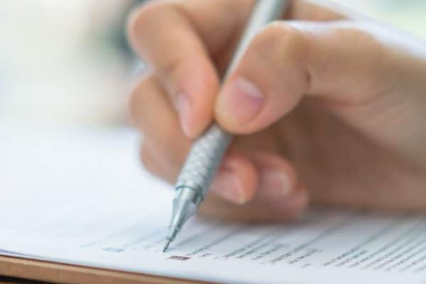 Notitieblok schrijven